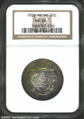 Commemorative Silver: , 1920 50C Maine MS64 NGC. A nearly gem example with ...