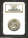 Commemorative Silver: , 1920 50C Pilgrim MS66 NGC. Bright luster and a sharp ...