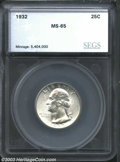 Additional Certified Coins: , 1932 25C Quarter MS65 SEGS (MS64). A lustrous and ...