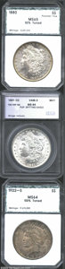 Additional Certified Coins: , 1880 $1 Morgan Dollar MS65 50% Toned, Planchet Flaw PCI (... (3coins)