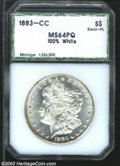 Additional Certified Coins: , 1883-CC $1 Morgan Dollar MS64 100% White Semi-Prooflike ...