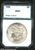 Additional Certified Coins: , 1888 $1 Morgan Dollar MS65 PCI (MS64). An exquisitely ...