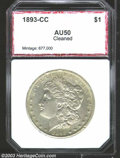 Additional Certified Coins: , 1893-CC $1 Morgan Dollar AU50 Cleaned PCI (AU50 Cleaned).