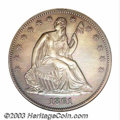 1861 P50C Half Dollar, Judd-280, Pollock-331, R.7--Cleaned--ANACS. Proof, Net PR55. A regular dies obverse is paired wit...