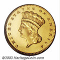 Proof Gold Dollars: , 1859 G$1 PR63 Cameo PCGS. The 1859 is a rarely ...