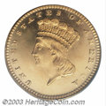 Proof Gold Dollars: , 1880 $1 PR66 Deep Cameo PCGS. The 1880 Gold Dollar is an ...