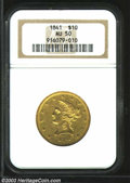Liberty Eagles: , 1841 $10 AU50 NGC. Moderately abraded with a decent ...