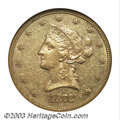 Liberty Eagles: , 1872 $10 AU50 NGC. Extremely scarce in all grades, the ...