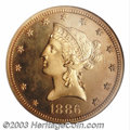 Proof Liberty Eagles: , 1886 $10 PR64 Cameo NGC. Only 60 proofs were struck of ...