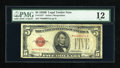 Small Size:Legal Tender Notes, Fr. 1527* $5 1928B Legal Tender Star Note. PMG Fine 12.. ...