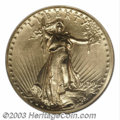 High Relief Double Eagles: , 1907 $20 High Relief, Wire Rim MS64 NGC. A lovely high ...