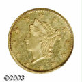 California Fractional Gold: , Undated 25C Liberty Round 25 Cents, BG-222, R.2, MS64 PCGS.