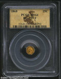 California Fractional Gold: , 1868 25C Indian Octagonal 25 Cents, BG-799T, High R.5, MS64 ...