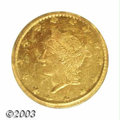 California Fractional Gold: , 1863 25C Liberty Round 25 Cents, BG-820, R.5, MS63 PCGS. ...