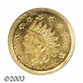 California Fractional Gold: , 1875 50C Indian Round 50 Cents, BG-1037, R.4, MS63 PCGS. ...