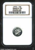 Proof Roosevelt Dimes: , 1959 PR 69 Cameo NGC. ...