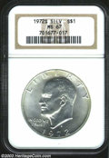 Eisenhower Dollars: , 1972-S Silver MS67 NGC. ...