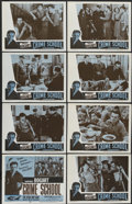 """Movie Posters:Crime, Crime School (Warner Brothers, R-1956). Lobby Card Set of 8 (11"""" X 14""""). Crime.... (Total: 8 Items)"""