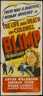 """The Life and Death of Colonel Blimp (General Film Distributors, 1943). Australian Daybill (13"""" X 30""""). Drama..."""