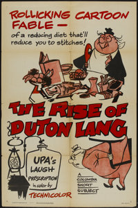 "The Rise of Duton Lang (Columbia, 1956). One Sheet (27"" X 41""). Animated"