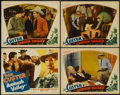 """Movie Posters:Western, Ambush Valley (William Steiner, 1936). Title Lobby Card and Lobby Cards (3) (11"""" X 14""""). Western.... (Total: 4 Items)"""