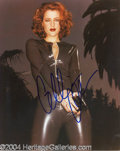 Autographs, Gillian Anderson In-Person Signed Photo