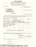 Autographs, Eddie Anderson Signed Document