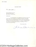 Autographs, Julie Andrews Vintage Signed Document