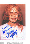 Autographs, Linda Blair Signed Exorcist Photo