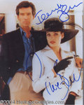 Autographs, Brosnan & Janssen Signed 007 Goldeneye Photo