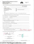Autographs, Matthew Broderick Signed Document