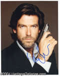 Autographs, Pierce Brosnan Signed 007 Photo