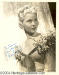 Autographs, Mary Carlisle Signed Vintage Photograph
