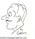 Autographs, Art Carney Signed Self Caricature