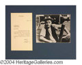 Autographs, Art Carney Typed Letter Signed