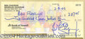 Autographs, Ben Chapman Jr. Creature Signed Check