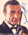 Autographs, Sean Connery Rare Signed 007 Photo