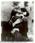 Autographs, Jackie Coogan Signed Photo w/ Chaplin