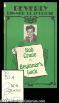 Autographs, Bob Crane Signed Play Program