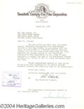 Autographs, Dan Dailey Signed Document