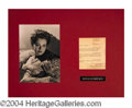 Autographs, Olivia de Havilland Signed Letter Display