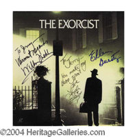 "The Exorcist Cast Signed Soundtrack LP - Original album cover to the soundtrack for ""The Exorcist"", signed on..."