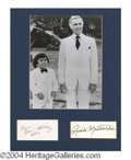 Autographs, Fantasy Island Signed Matted Display
