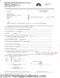 Autographs, Brendan Fraser Signed Document