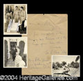 Autographs, Clark Gable Amazing Signed Army Archive