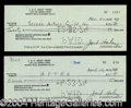 Autographs, Jack Haley Signed Check Lot