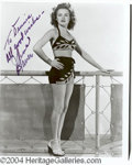 Autographs, June Haver Signed 8 x 10 Photograph