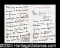 Autographs, Katharine Hepburn Rare ALS To Joan Crawford!