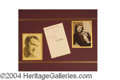Autographs, Spencer Tracy & Katharine Hepburn Signed Display