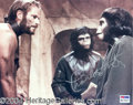 Autographs, Charlton Heston Signed Apes Photo
